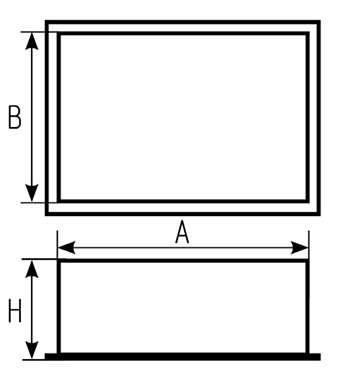Заглушка вентиляционная прямоугольная: чертеж
